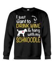Drink Wine WIth My Schnoodle Crewneck Sweatshirt thumbnail