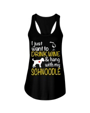 Drink Wine WIth My Schnoodle Ladies Flowy Tank thumbnail