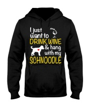 Drink Wine WIth My Schnoodle Hooded Sweatshirt thumbnail