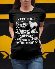 Crazy Clumber Spaniel Lady Ladies T-Shirt apparel-ladies-t-shirt-lifestyle-04