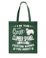 Crazy Clumber Spaniel Lady Tote Bag thumbnail