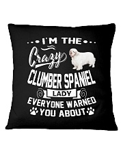 Crazy Clumber Spaniel Lady Square Pillowcase thumbnail