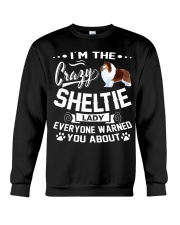 Crazy Sheltie Lady Crewneck Sweatshirt thumbnail