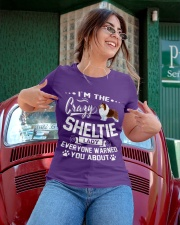 Crazy Sheltie Lady Ladies T-Shirt apparel-ladies-t-shirt-lifestyle-01