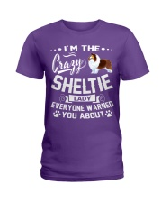 Crazy Sheltie Lady Ladies T-Shirt front