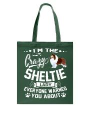 Crazy Sheltie Lady Tote Bag thumbnail