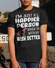 Happier Person Irish Setter Classic T-Shirt apparel-classic-tshirt-lifestyle-29