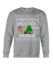 Christmas Is Better With A Morkie Crewneck Sweatshirt tile