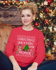 Christmas Is Better With A Morkie Crewneck Sweatshirt lifestyle-holiday-sweater-front-2
