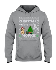 Christmas Is Better With A Morkie Hooded Sweatshirt thumbnail