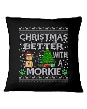 Christmas Is Better With A Morkie Square Pillowcase thumbnail