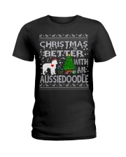 Christmas Is Better With An Aussiedoodle Ladies T-Shirt thumbnail