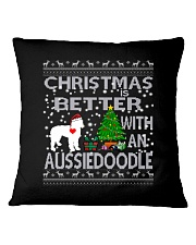 Christmas Is Better With An Aussiedoodle Square Pillowcase thumbnail