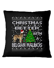 Christmas Is Better With A Belgian Malinois Square Pillowcase thumbnail