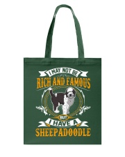 Rich And Famous WIth Sheepadoodle Tote Bag thumbnail