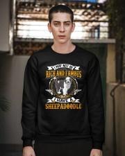 Rich And Famous WIth Sheepadoodle Crewneck Sweatshirt apparel-crewneck-sweatshirt-lifestyle-02