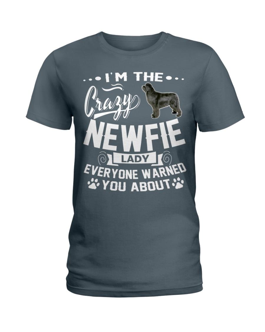 Crazy Newfoundland Lady Ladies T-Shirt