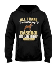 All I Care About Is My Basenji Hooded Sweatshirt thumbnail
