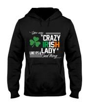 CRAZY IRISH LADY  Hooded Sweatshirt thumbnail