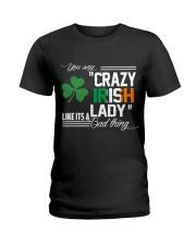 CRAZY IRISH LADY  Ladies T-Shirt tile