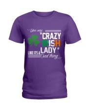 CRAZY IRISH LADY  Ladies T-Shirt front