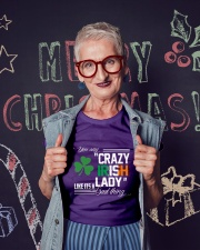 CRAZY IRISH LADY  Ladies T-Shirt lifestyle-holiday-crewneck-front-3