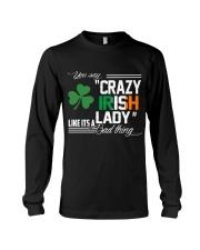CRAZY IRISH LADY  Long Sleeve Tee thumbnail
