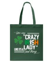 CRAZY IRISH LADY  Tote Bag thumbnail