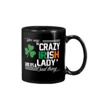 CRAZY IRISH LADY  Mug thumbnail