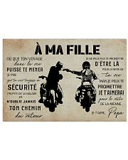 A Ma Fille Papa 17x11 Poster front