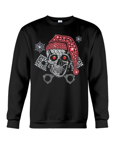 Biker Diamond Skull Merry Christmas