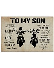Poster To Son Biker Mama 17x11 Poster front
