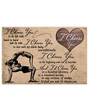 I Choose You Yoga 17x11 Poster front