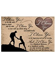 I Choose You Hiking 17x11 Poster front