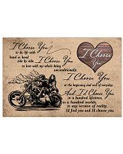 I Choose You biker 17x11 Poster front