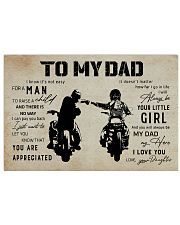 Poster To My Dad Daughter 17x11 Poster front