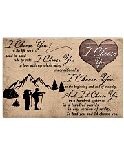 I Choose You Camping 17x11 Poster front
