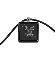 THE SECRET OF GETTING AHEAD IS GETTING STARTED  Cord Rectangle Necklace thumbnail