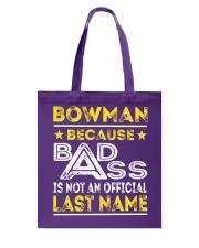 BOWMAN Tote Bag thumbnail