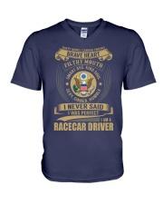 Racecar Driver V-Neck T-Shirt thumbnail