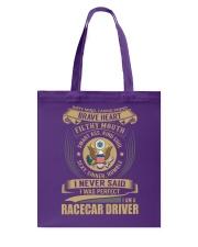Racecar Driver Tote Bag thumbnail