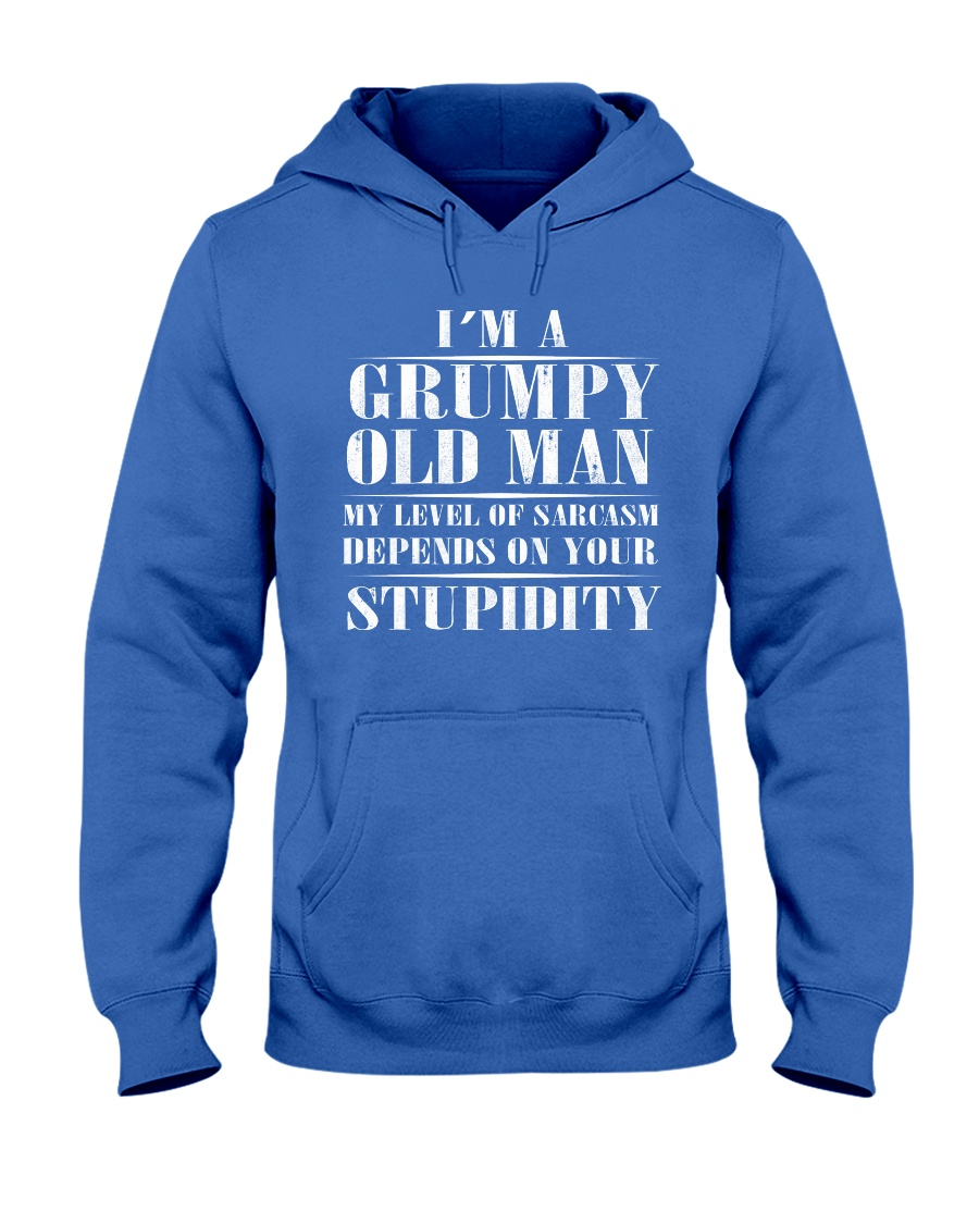 Grumpy Old Man Hooded Sweatshirt