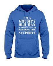 Grumpy Old Man Hooded Sweatshirt front