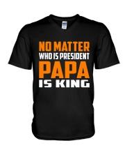 PAPA IS KING V-Neck T-Shirt thumbnail