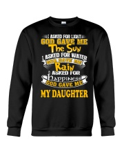 GOD GAVE ME MY DAUGHTER Crewneck Sweatshirt thumbnail