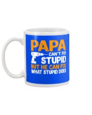 PAPA CAN FIX Mug back