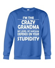 CRAZY  GRANDMA Crewneck Sweatshirt front