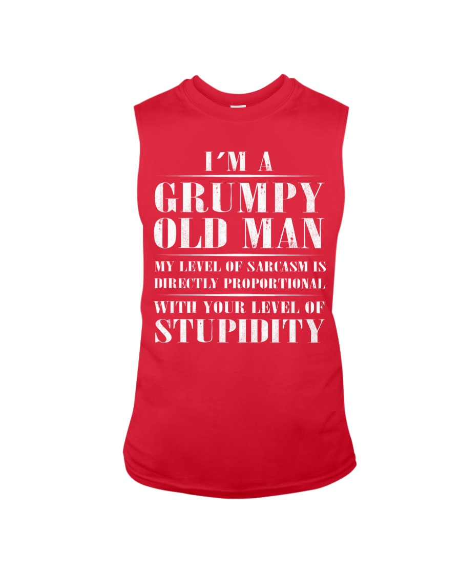 GRUMPY OLD MAN Sleeveless Tee