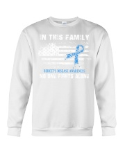 In This Family No One Fights Alone Behcets Disease Crewneck Sweatshirt thumbnail