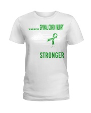 Spinal Cord Injury Warrior Destroy Makes Stronger Ladies T-Shirt thumbnail